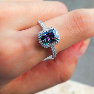 Mystic Fire Crystal Stone Ring