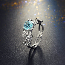 Load image into Gallery viewer, Crystal Leaf Engagement Ring