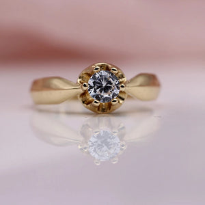 Lucinda Estate Solitaire Engagement Ring