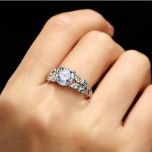 Load image into Gallery viewer, Crystal Leaf Shape Wedding Ring