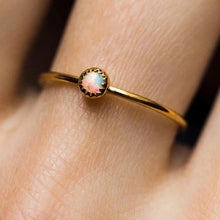 Load image into Gallery viewer, Dainty Opal Stone Ring