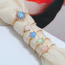 Load image into Gallery viewer, 5pcs/Set Opal Rings