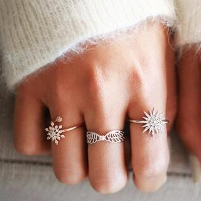 Luxurious Rings Sets 3pcs/sets