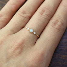 Load image into Gallery viewer, Dainty Fire Opal Ring