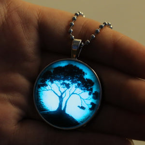 Glow In The Dark Tree Of Life Necklace