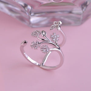 Luxury Crystal Butterfly Tree Ring