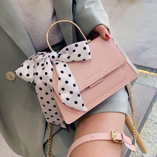 Elegant Ribbon Bow Tote Bag