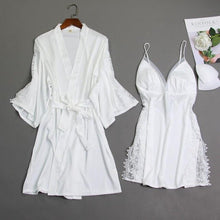 Load image into Gallery viewer, Sexy 2PCS Bride Wedding Robe