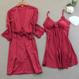 Sexy 2PCS Bride Wedding Robe