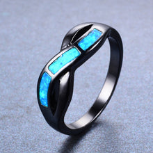 Load image into Gallery viewer, Ocean Blue Fire Opal Ring