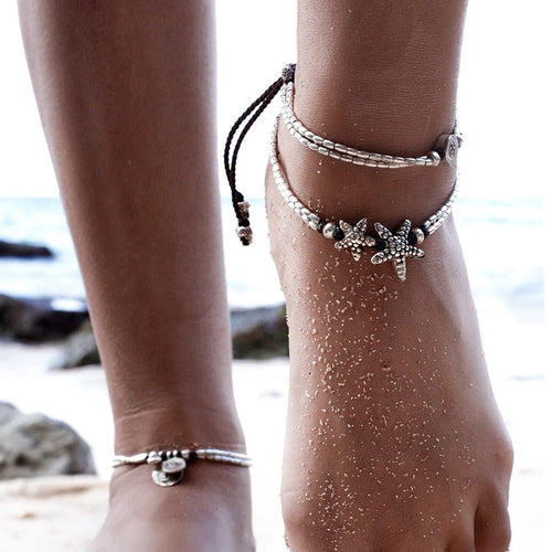 Cute Boho Starfish Anklet