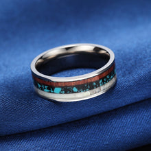 Load image into Gallery viewer, Men's Natural Wood Inlay Ring