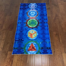 Load image into Gallery viewer, Chakra Rainbow Tapestry Beach Towel Yoga Mat