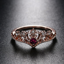 Load image into Gallery viewer, Rose Gold Crown Rhinestone Ring