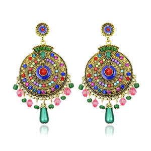 Stunning Indian Mosaic Earrings