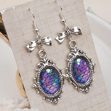 Load image into Gallery viewer, Mermaid & Bow Earrings