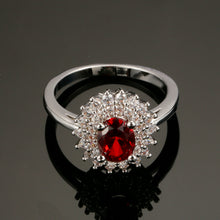 Load image into Gallery viewer, Garnet January Birthsone ring