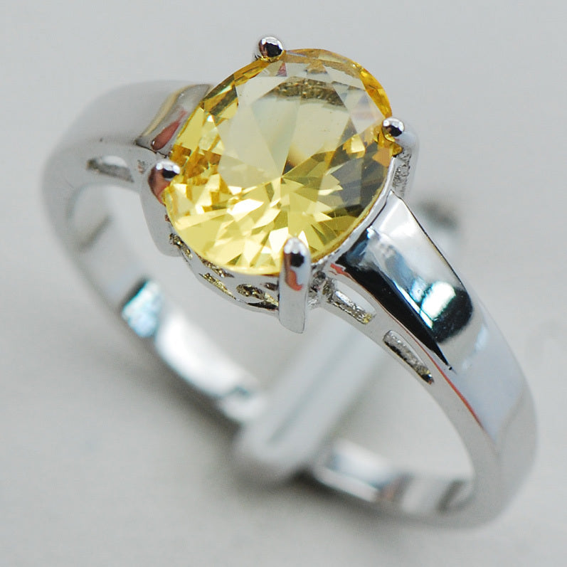 Silver Gemstone Ring