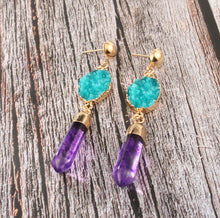 Load image into Gallery viewer, Doozy Druzy Earrings