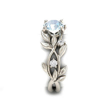 Load image into Gallery viewer, Vine Leaf Crystal Flower Vintage Ring
