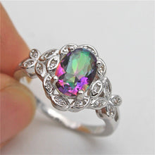 Load image into Gallery viewer, Mystic ring with CZ accents