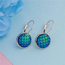 Load image into Gallery viewer, Rainbow Scale Mermaid Earrings