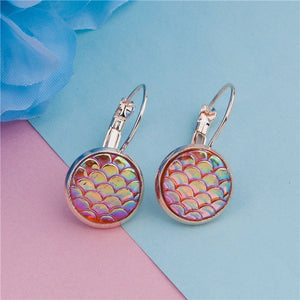Rainbow Scale Mermaid Earrings
