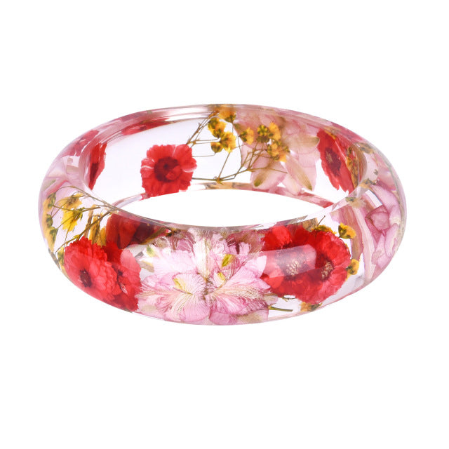 Dried Wildflower Bangle