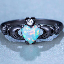 Load image into Gallery viewer, Fire Opal Heart Ring