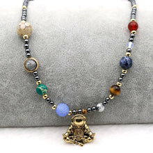 Load image into Gallery viewer, Solar System Spaceman Necklace