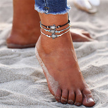 Load image into Gallery viewer, Boho Turtle Anklets (Set of 3)