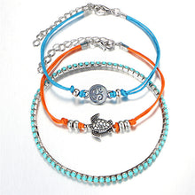 Load image into Gallery viewer, Boho Turtle Bracelet Stack