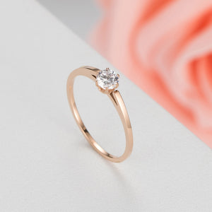 Elegant Rose Gold Ring