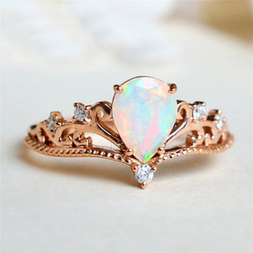 Elegant Fire Opal Ring