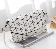 Load image into Gallery viewer, Abstract Geometric Matte Shoulder Bag