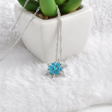 Load image into Gallery viewer, Crystal Snowflake Necklace