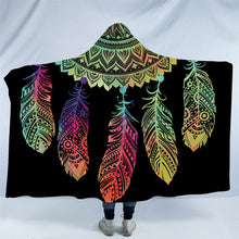 Load image into Gallery viewer, Mandala Hoodie Blanket