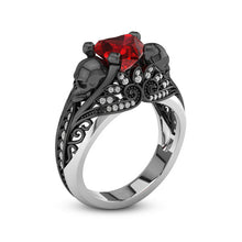 Load image into Gallery viewer, Vintage Skull Heart Ring