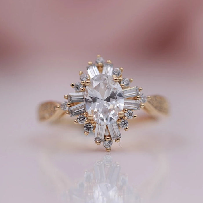 Sunburst Art Deco Ring