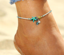 Load image into Gallery viewer, Handmade Starfish Anklet