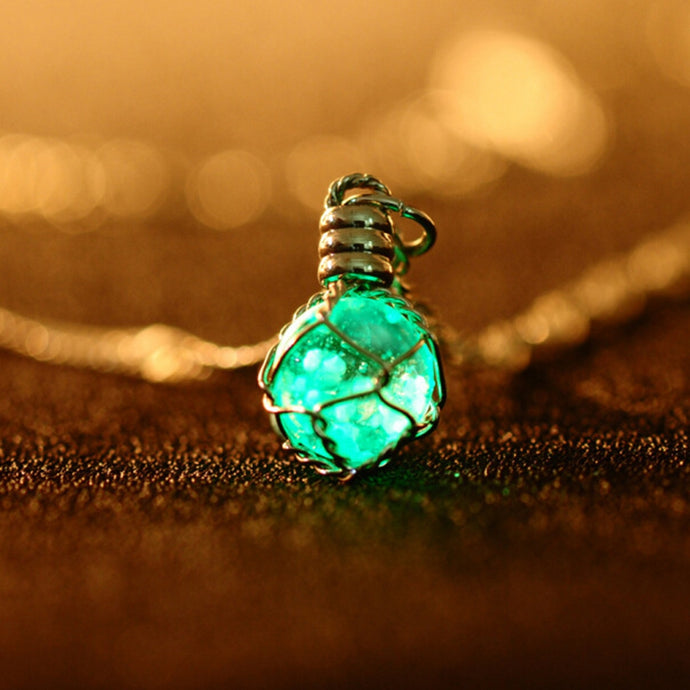 The Luminous Crystal Ball Necklace