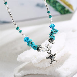 Bohemian Starfish Beads Stone Anklet
