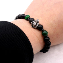 Load image into Gallery viewer, Laughing Buddha Matte Onyx Bracelet
