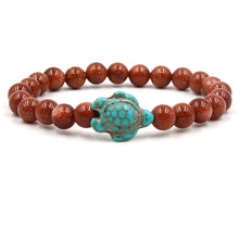 Load image into Gallery viewer, Stone Bead Sea Turtle Bracelet