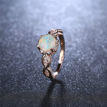 Load image into Gallery viewer, Virant opal rose gold ring