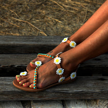 Load image into Gallery viewer, The Turquoise Daisy Sandals