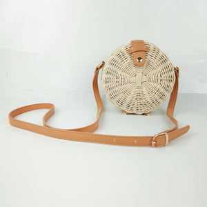 Round Straw Bag  Handmade