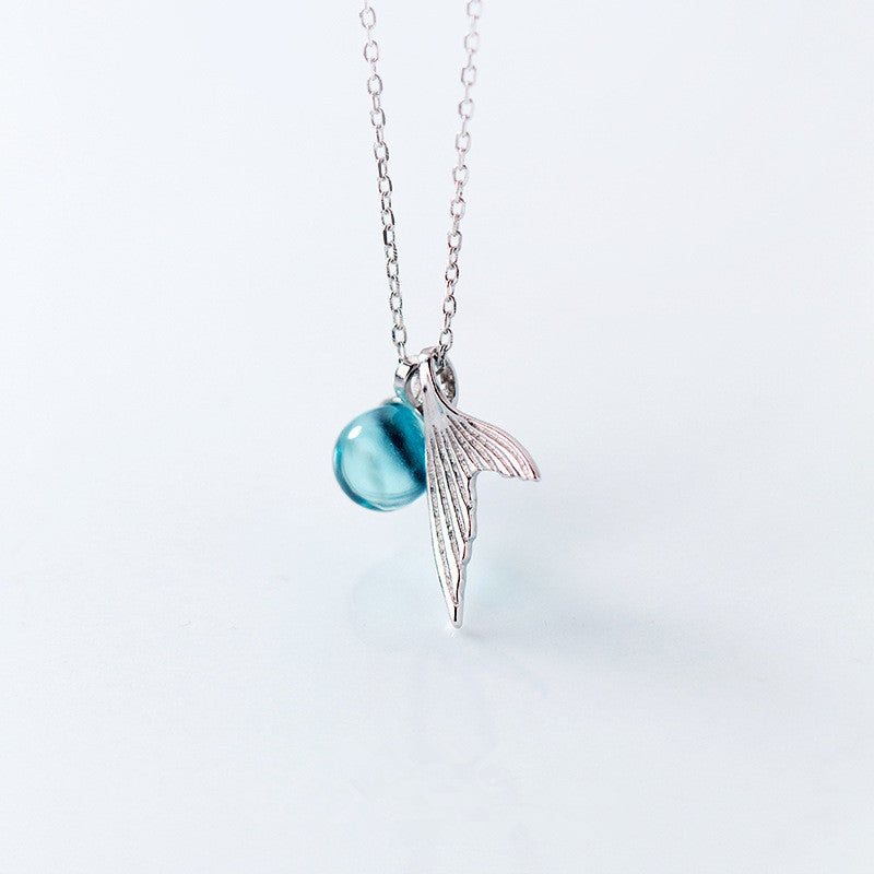 Crystal Mermaid Necklace (925 Sterling Silver)