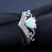 Load image into Gallery viewer, Elegant Heart Opal Ring