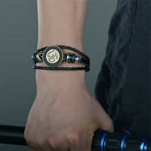 Load image into Gallery viewer, Om Insignia Leather Bracelet
